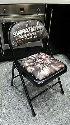 WWE PPV official ringside chair Elimination Chamber 2013 metal steel fold up