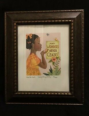 Mary Engelbreit Framed Signed Numb Lithograph Print Help for Haiti 67/250 Ltd Ed