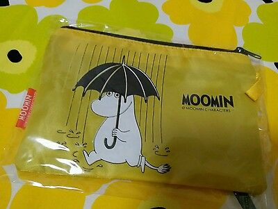 Moomin Characters Nylon Mini Size Zipper Case Yellow color one piece