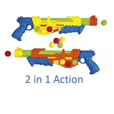 46cm Large 7PC Super Soaker Water Gun Powerful Water Cannon 2in1 High Pressure