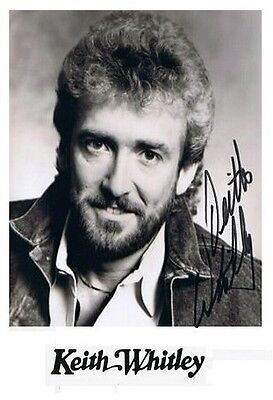 """Keith Whitley 4x6 Signed Autograph Reprint Photo """"Mint"""" {FREE SHIPPING} 04"""