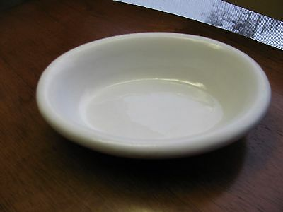 Antique White Ironstone Oval Soap Dish Old M&S over E mark