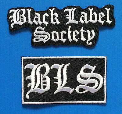 2 BLACK LABEL SOCIETY Thash Metal Embrodered Iron Or Sewn On Patches Free Ship