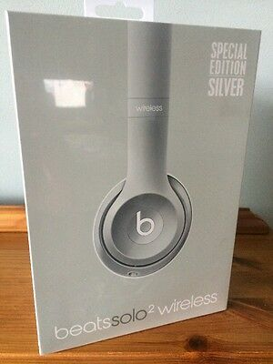 BNIB Beats by Dr. Dre Solo2 Wireless  Headphones Special Edition Silver