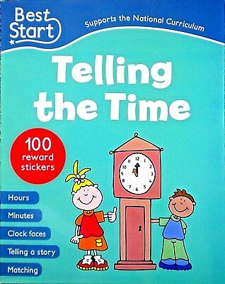learn Telling the Time children's sticker book age 5 new