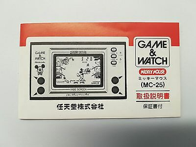 Vintage, Retro, Collectible Nintendo GAME & WATCH GENUINE MICKEY MOUSE INSTRUCTI