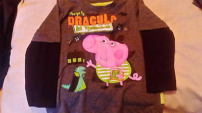 Boys long sleeve t-shirt peppa pig george 18-24 months