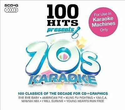 100 HITS - 70's Seventies Karaoke 100 Backing Tracks CDG CD G 5 CD NEW
