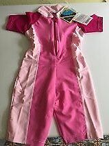 Rash /UV all in one protection suit for girl - pink three tone age 2 years - NEW