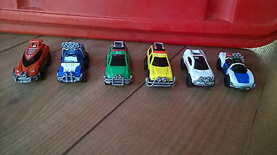 1997 Bandai Power Rangers Turbo Charged Turbo Zords 6 Pull Back Cars RARE