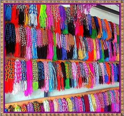Wholesale Lot 500 Wide Friendship Bracelets Peruvian Macrame Fabric!!