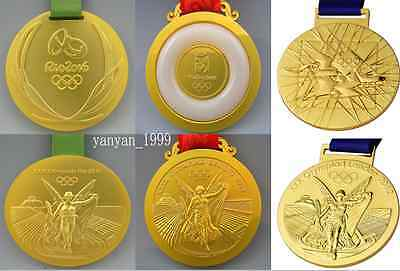 3 Olympic 'Gold Medals'- Beijing 2008/London 2012/Rio 2016 **Free Shipping**