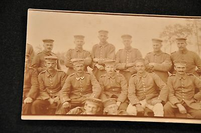 Wwi German Photograph 'group Of Enlisted Soldiers - Unit Picture'