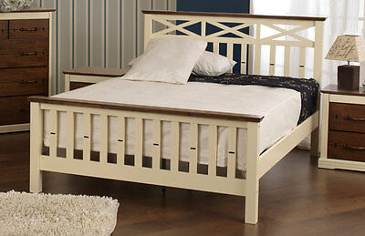 Lavish Sweet Dreams Amore Shaker Style Solid Wooden Bed Frame In Double & King