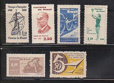 Brazil Stamps 1960 Mnh - Small Collection