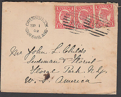 Queensland - 1902 cover to USA