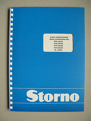 Storno CQL630 - Stornophone 600 Service Manual - 4m VHF Low Band