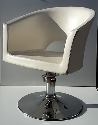 White Salon Styling Hairdressing Barber Chair Hydraulic Pump
