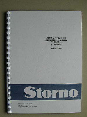 Stornophone 5000 - Storno CQM5660 UHF-Band  Service Manual - TOP Zustand !