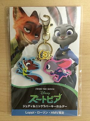 Rare! Disney Zootopia Keychain Japan DVD Pre Order Official Limited Judy Nick