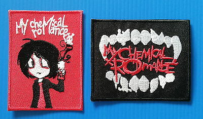 2  LOT  MY CHEMICAL ROMANCE Embrodered Iron Or Sewn On Patches Free Ship