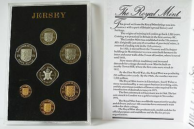 Royal Mint 1981 Proof Coinage Of Jersey: 7 Coin Set with Battle Of Jersey £1