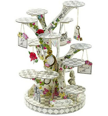 Alice in Wonderland Party Decor Cupcake Stand Decorations Birthday Tea Supplies