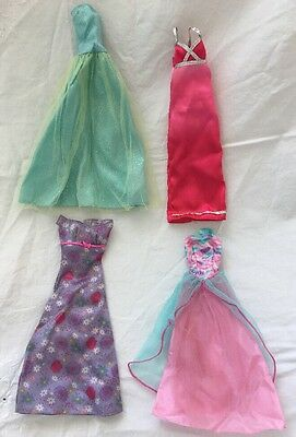 Genuine Barbie PINK Tagged Doll Evening Gowns Dresses Lot #1