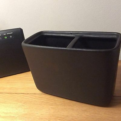 double toothbrush holder from Next. black stone.