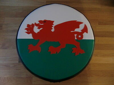 Welsh Flag Scooter Wheel Cover