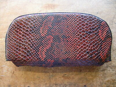 Red Snake Skin Back Rest Cover (Purse Style) Vespa/Lambretta