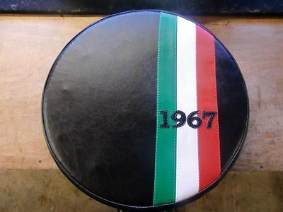 Italian Stripe Black (Any Year) Scooter Wheel Cover