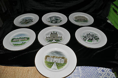 7 x Wedgwood Collectors Plate country house Limited Edition by David Gentleman
