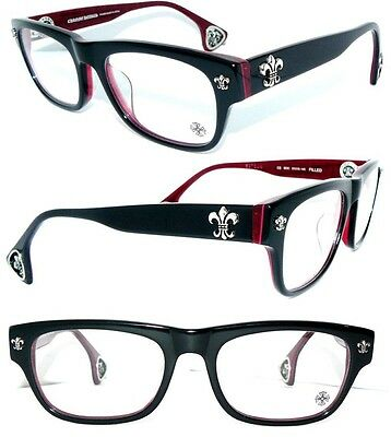 CHROME HEARTS BRILLE FILLED SCHWARZ BEAST Sneaky Pete GLASSES + CHANEL BAG ETUI