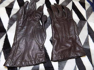 ladies vintage soft brown leather gloves by ARIS size 7