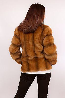Stunning vintage red fox fur coat - faux fox fur