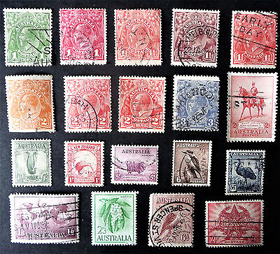 Australia Collection Old Stamps King George V VI KGV #1024