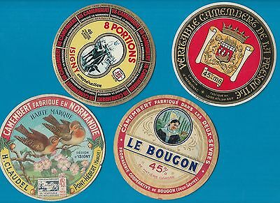 Selection of all different cheese labels Fromage formaggio CAMEMBERT #210