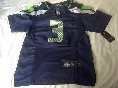 Bnwt Seattle Seahawks NFL American Football shirt Jersey USA.40 Medium Wilson