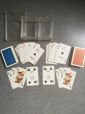 vintage twin FOURNIER 201 Avion playing cards incl 6 jokers, tax stamped