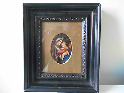 KPM Berlin German Porcelain Plaque hand Painted Madonna and Child