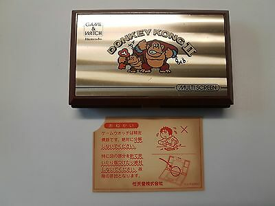 Vintage, Retro, Collectible Nintendo GAME & WATCH DONKEY KONG 2 JR-55 1983