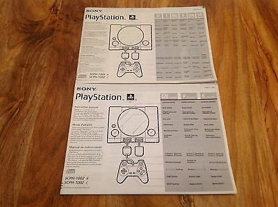 Sony Playstation 1 PS1 Console manual only SCPH-1002, Free Post