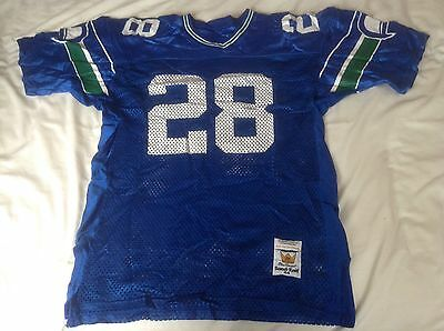 Vintage Seattle Seahawks NFL American Football shirt Jersey Large Sandknit Vgc