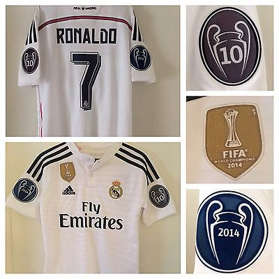 adidas Real Madrid Home Champions League Childs Age 9-10 Years Old RONALDO 7 NEW