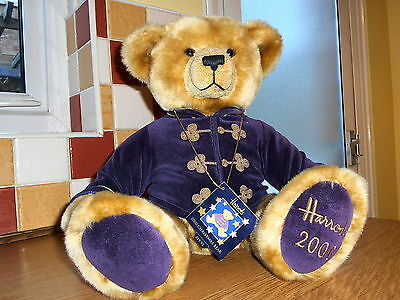 Harrods Annual Christmas Teddy Bear Foot Dated 2000 with tags