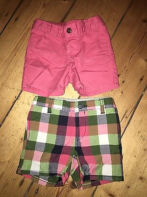 2 Pairs Of Boys Shorts Gap 18-24 Months