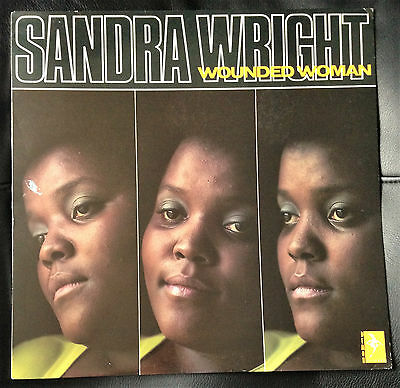 SANDRA WRIGHT - Wounded Woman - LP UK 1989 Demon FIEND 138 *VERY RARE* NM/VG+