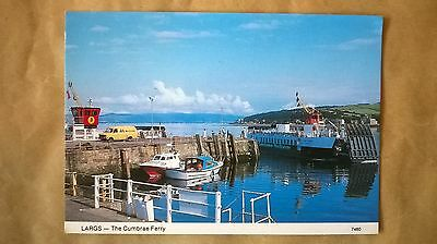 A postcard of The Cumbrae Ferry,Largs,Ayrshire,Scotland.