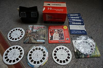Vintage View Master 3 Dimension Viewer Model E & Reels, Retro 70 80, TV Toy Game